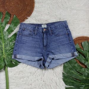 J. Crew Denim High Rise Jean Shorts Womens Size 26